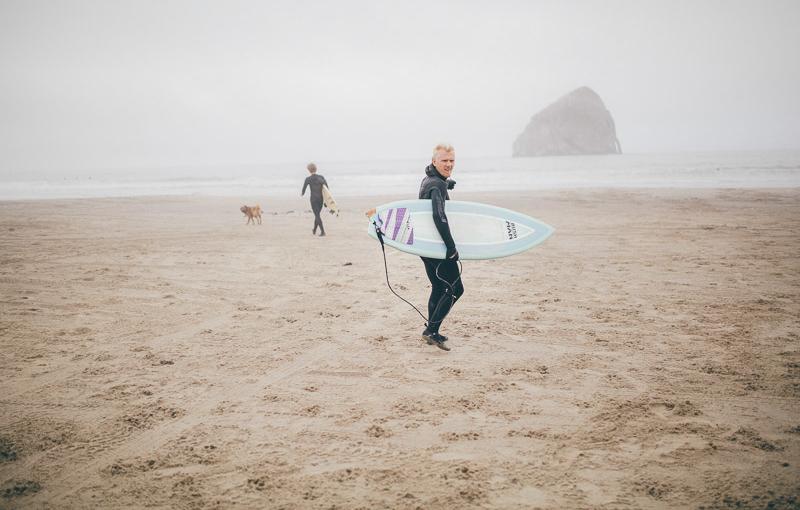 Surfing on the Oregon Coast